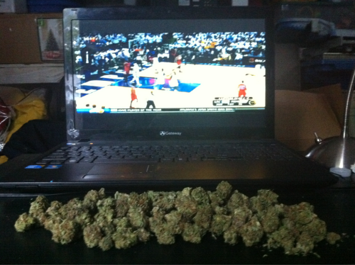 Bunch of weed. NBA Playoffs.