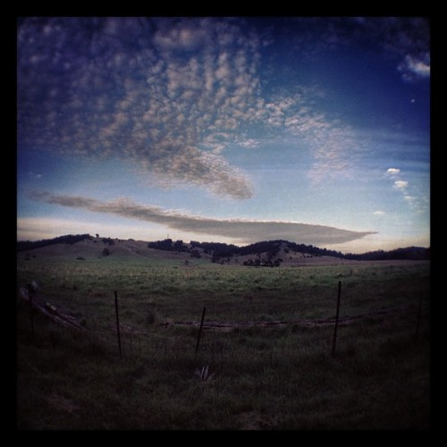 That cloud is creepin' me out for some reason.   (Taken with Instagram at Fort Bragg)