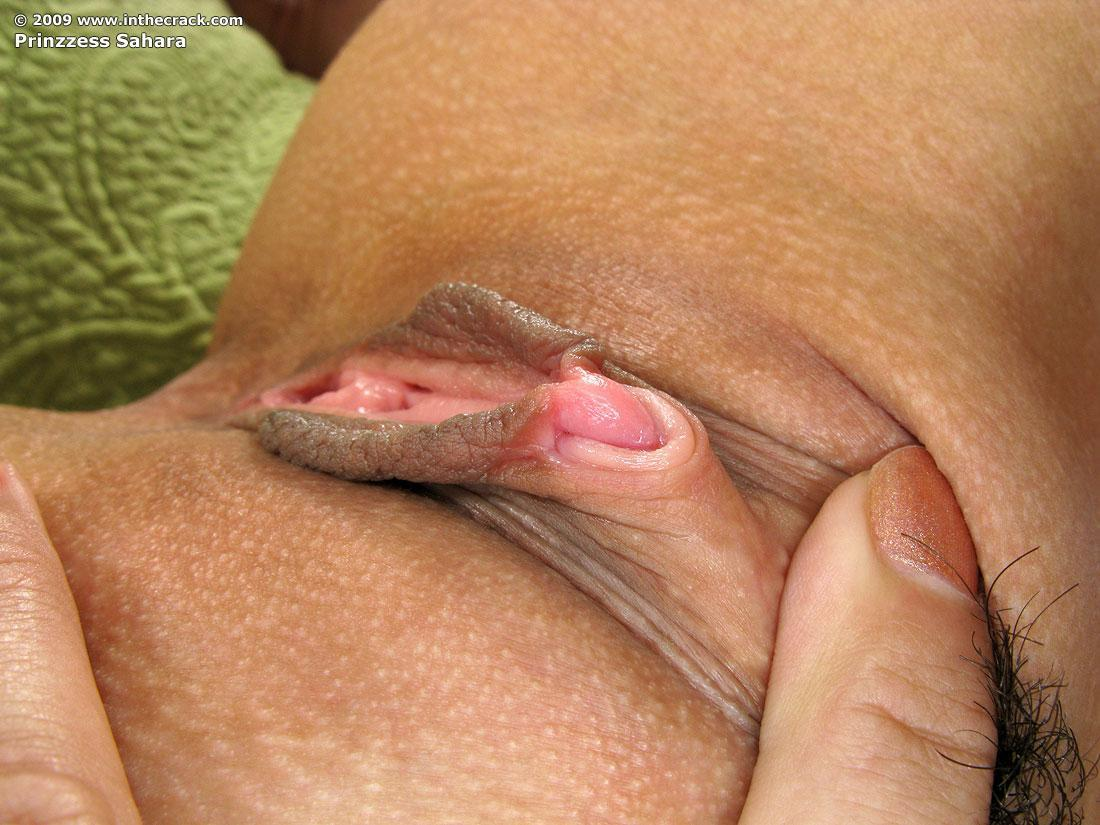 Clitoris coming trough big labia