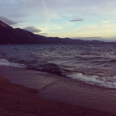Sun setting - Lake Tahoe (Taken with instagram)