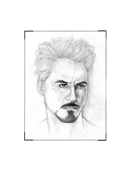 "Jake Galloway©2012 ""Robert Downey Jr.- WIP1"" .03 HB Graphite/ HP print paper"