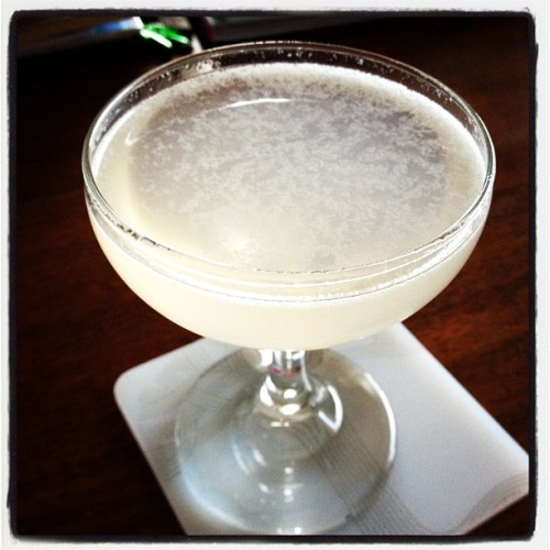 Pegu Club: 2 oz. Gin, 1 oz. Cointreau, 0.75 oz. lime juice, 1 dash Angostura bitters, 1 dash orange bitters.