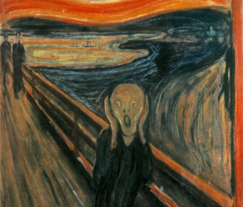 "shortformblog:  Edward Munch's iconic ""The Scream"" sells for $119.9 million: We're with you, freaked-out screaming guy."