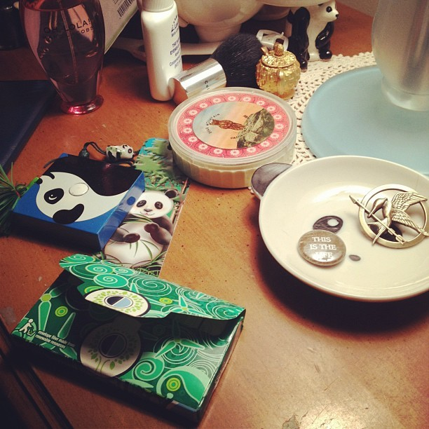 hintsandallegations:  Guess my age: Yes, that's a panda tape measurer (Taken with instagram)  SAME. GUM.