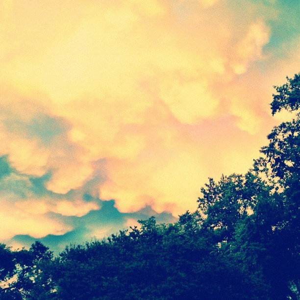 Interesting #clouds this evening after the #storm  (Taken with instagram)