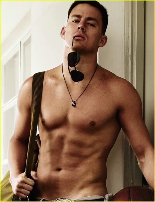 Channing Tatum he's funny as hell, talented, a total heart throb and he sculpted to fucking perfection. if you haven't seen 21 Jump Street by the way you must go and watch it immediately. he is so funny in it and it's actually a very, very good remake. oh and he can dance. and no i don't mean strip when i say dance. but extra points for that too bud.