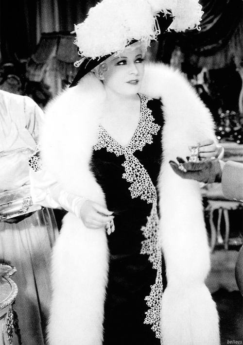 "bellecs:  ""Mae West came like a rainfall, a veritable torrent upon a dry desert. Here, unmistakable, whatever one might think of her art, was a woman, a female. No little dried-up cutie, no pretty little narrow-shouldered skeleton of a chicken, no parched and skinny pseudo-vamp, no trumped up, artificial siren, but a good, large, full, round, old-time 1890 woman, with a 'woman' up and down and side-wise written plainly on her every figure - and all other places."" - George Jean Nathan on Mae West.  Mae. C"