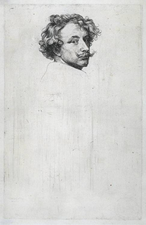 Anthony van Dyck, Self portrait, c. 1630. Etching. Rijksmuseum.
