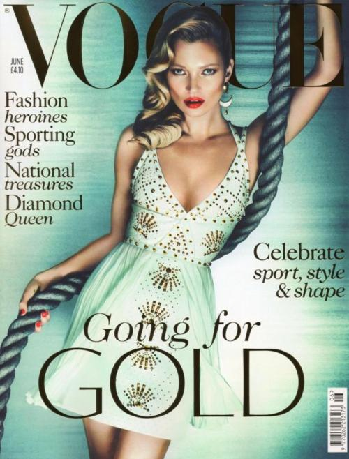 Portada: Vogue UK (Junio de 2012) Modelo: Kate Moss