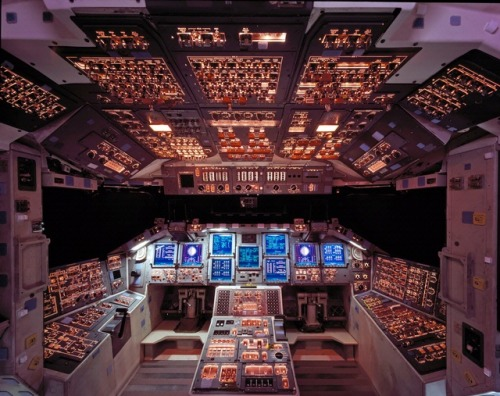 Space Shuttle Columbia Cockpit By: NASA