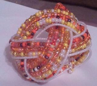 Today's project - Beaded wire cuff bracelet. Not bad for a 1st attempt! Back at it tomorrow to iron out the kinks…. Stay tuned www.ProvocativExpression.com https://twitter.com/ProvocatvExprsn
