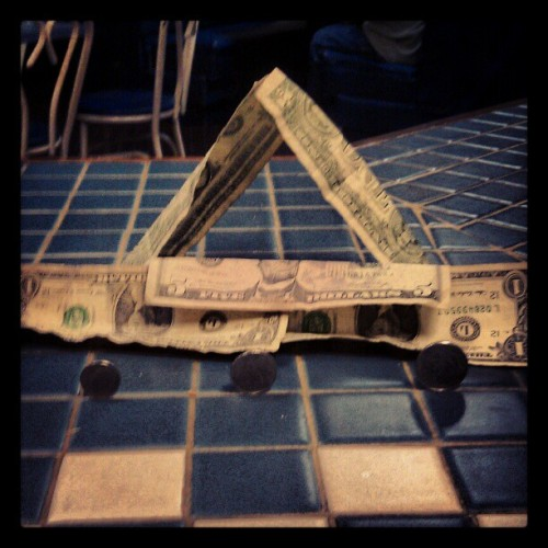 Making #moneyart #uncg  (Taken with instagram)