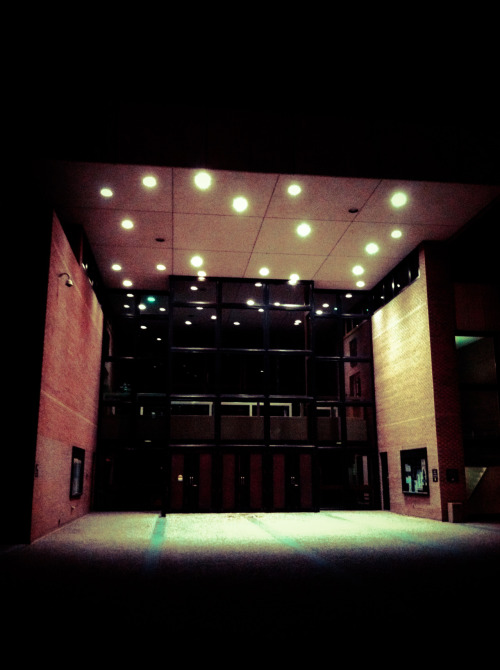 Ferguson Hall…at night.