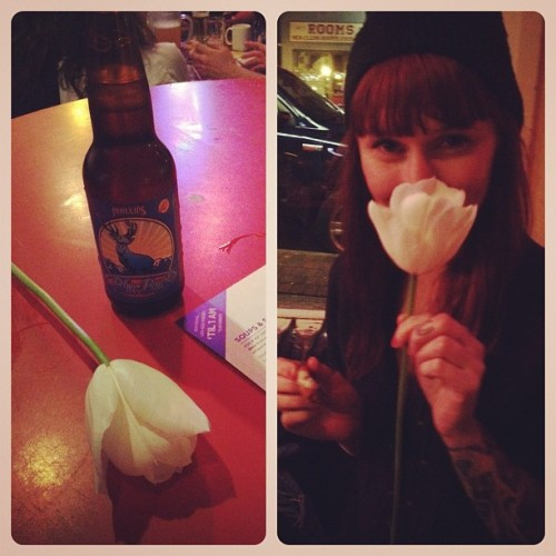 Girl bought me a flower! <3 (Taken with instagram)