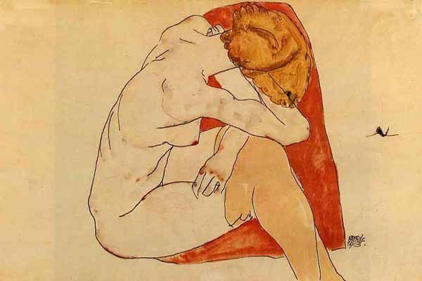 egonschiele:  seated woman 1913 - egon schiele