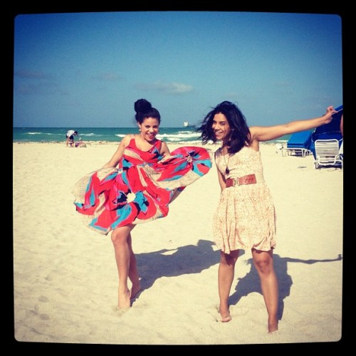 Frolicking on South Beach in our ManRepellers