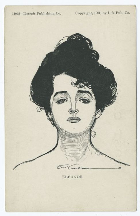 lostsplendor:  Eleanor by Charles Gibson, c. 1903 via The New York Public Library