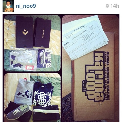 the nephew @ni_noo9 got a #fresh shipment from #karmaloop #westayfly #ballin go get yours #kloopstyles (Taken with instagram)