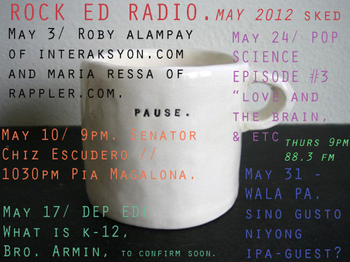 gangbadoy:  This month on Rock Ed Radio. :)