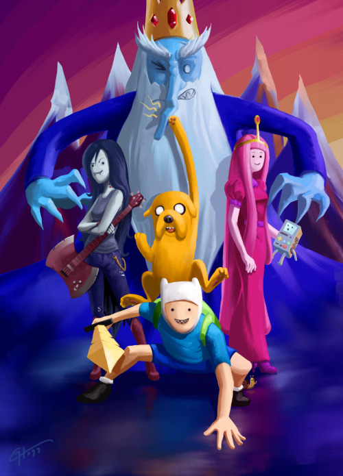 hora-de-aventura:  Adventure Time! by ~Garrenh. Follow Cartoon Network!  HECK YEAH!! :D Me n' mah bros against all the evil in Ooo! >:D