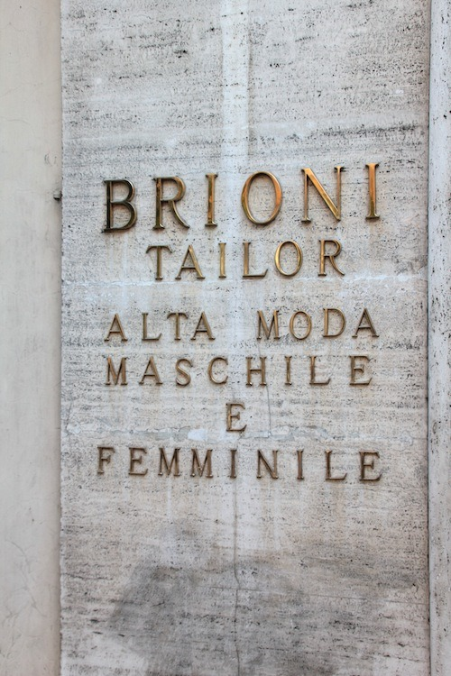 Outside Brioni, Rome
