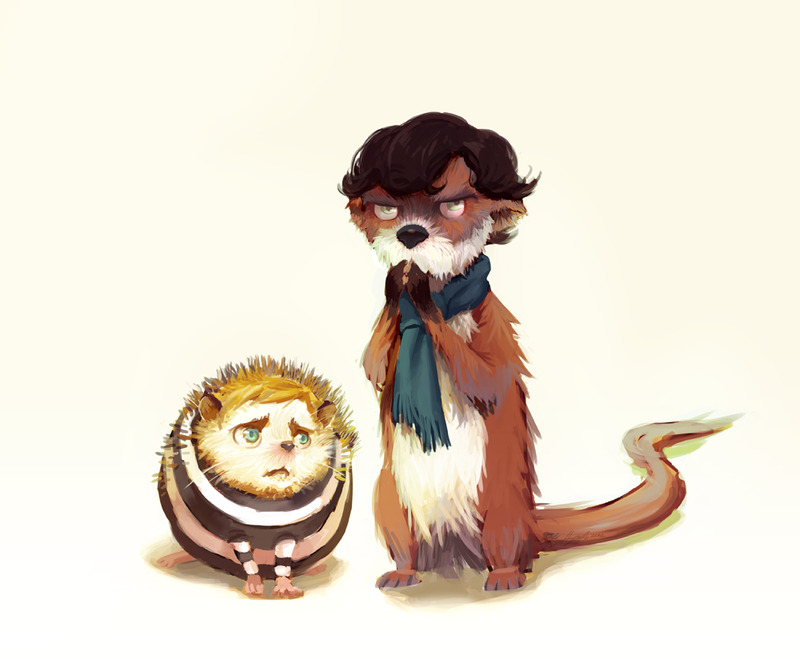 "finalproblem:  sketchlock:  almond-goddess:  Animal-Lock by ~almond-goddess I REGRET NOTHING.   Guys I've seen quite a few Hegehog Watson's but this one. There's just something so special about the way he's rendered here. ;w; Maybe it's the jumper and how the quills are poking out of it. ;o; (uuuuuuuuuu)  I swear it was only one hour ago that I was saying to myself, ""The only trouble with all these adorable John-as-hedgehog pictures is that they tend to completely ignore the real-world issues involved in clothing a hedgehog."" And then I realized it would probably be best if I could refrain from ever saying anything that dorky in front of other people. Oops… Anyway, this art is great."