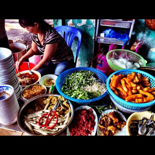 Lovely ingredients of a nice hanoi soup dish! (Taken with instagram)