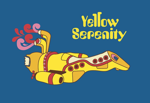 Yellow Serenity by KentZonestar Shirts, prints, and iphone cases available at redbubble. We all live in a Yellow Serenity… this is one of those things that is so brilliant I'm both overjoyed at its existence and yet simultaneously disappointed in the Internets for not thinking of this sooner.