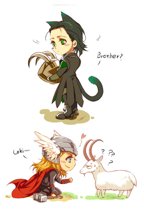 morry81:  Marvel-Thor and Loki by ~Athewawwwwwww <3