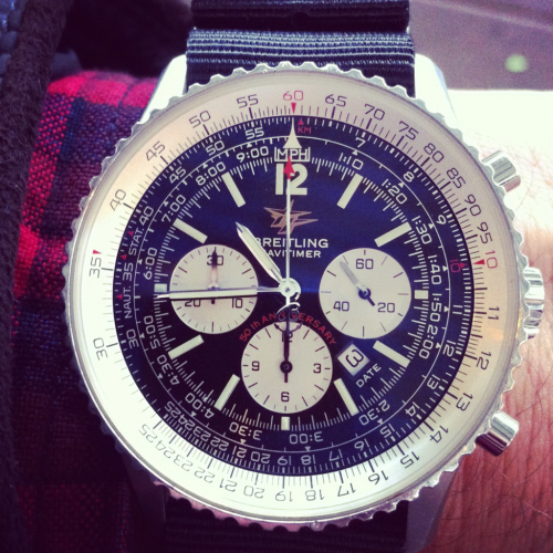 Special Edition #Breitling #Navitimer. This Particular Watch Is Celebrating 50 Years. Check Out The AOPA (Aircraft Owners & Pilots Association) Printed Above #Breitling - #Fly watchesanddesign:  Breitling Navitimer 50th anniversary edition with the old school AOPA (Aircraft Owners & Pilots Association) logo printed on the dial. This is such a classic watch, best Breitling to own! IMHO.. :)