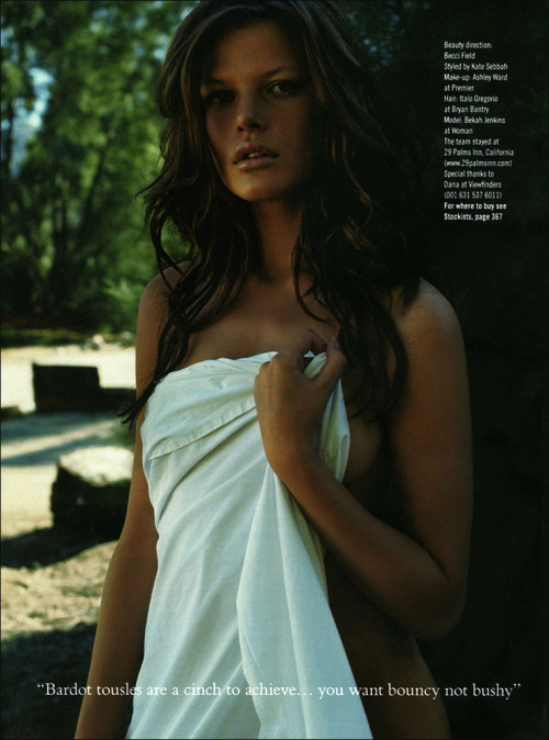 Glamour UK, June 2004Model : Bekah Jenkins