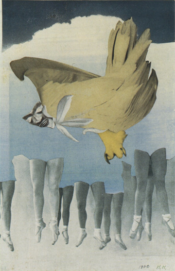 archives-dada:  Hannah Höch, Never Keep Both Feet on the Ground, 1940, Photomontage, 12 11/16 x 8 3/16 inches