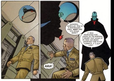 Haven: Broken City #5 Siv is territorial of his laboratory. No, actually, the guy is a spy and Siv is on to him.