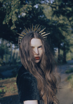 Tamzin Lillywhite: AW12  Photographer: Bridie Riley  Model Rebecca Sibers-Picard Stylist Lou Litchfield Hair Ollie Blackaby Assisting hair Ashley Pfeffer Makeup Yasemin Bilgic