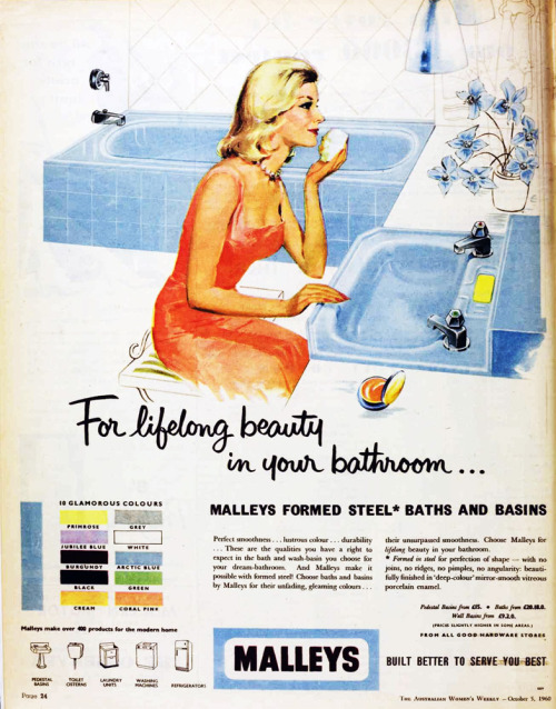 Malleys bathrooms, 1960