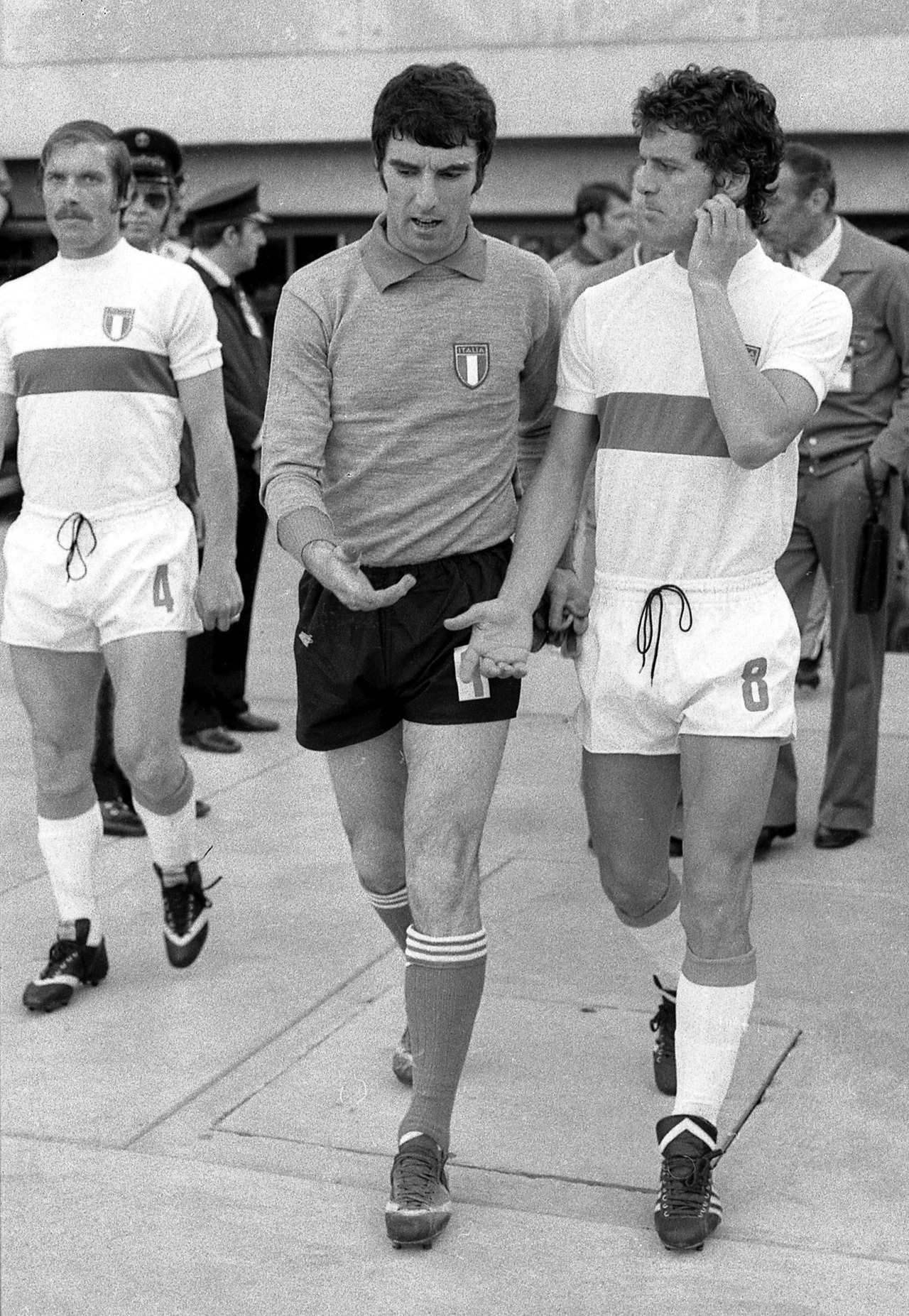 Dino Zoff and Fabio Capello, World Cup 1974.