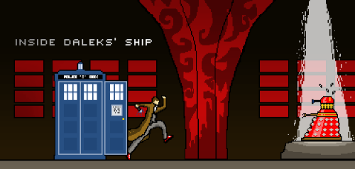 Today, A new version of Dr Who Pixel Art (Daleks' ship)