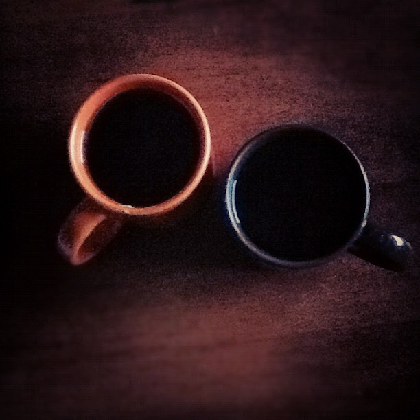 Cup of black tea. (Taken with instagram)