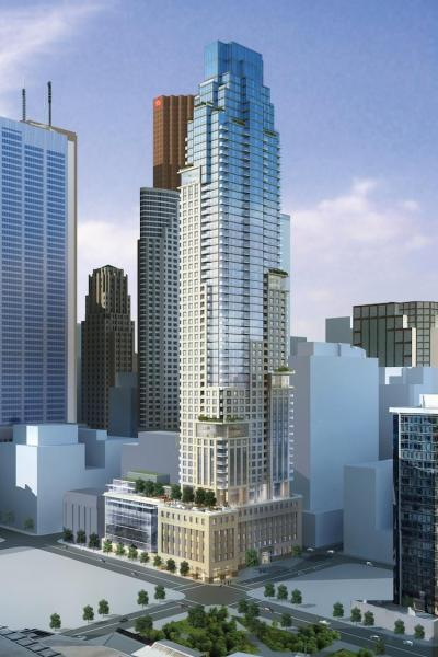 88 Scott - Toronto to the Core 88 Scott was designed for those who want to live downtown, but not live anywhere else. This graceful tower will capture the very essence of style, elegance and convenience - the very signature of downtown Toronto living. Close to many amenities such as Bay Street, city's cultural hotspots like the St. Lawrence Market.  Location: Yonge and Wellington With high-end finishings that come with your unit, regardless of your suite size or location in the building. You'll get spectacular views of the lake and city scape - available from many units, including the amazing penthouses. Developed by Concert Developers, this is one condominium project you do not want to miss out on, in the heart of Toronto's Financial District. Prices start at mid $300,000s.
