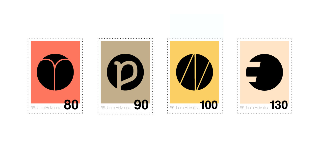 fictive stamps for helvetica.