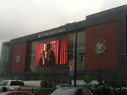 Bruce Springsteen billboard at the Prudential Center