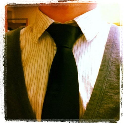 The Windsor Knot…fancy name…well, fancy knot. (Taken with instagram)