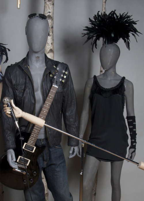 Rock N' Roll Themed Raw Fiberglass Mannequins