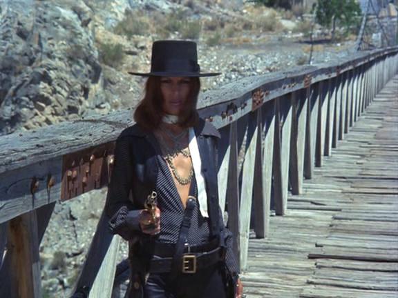 Paula Romo as the Woman in Black in one of my favorite movies, El Topo (1971). I love her look.