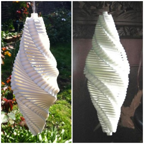 Aerodynamic design and modeling has been a mainstay application of 3D Printing for a long time. Only recently, as costs have decreased, are we starting to see this applied to the design of consumer products. Margot Krasojevic's Air Turbine Light is an excellent example of this. 3D Printed in a ceramic material, the lamp is lightweight, perfectly balanced, & aerodynamic. Most impressive is the fact she has been able to realize this design from concept to finished product without a large development team or investment. (via Shapeways | blog: Aerodynamic Wind Powered Outdoor Lighting)
