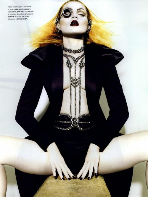 gasstation:  Guinevere van Seenus: Pécheresse - Numero #107 photographed by Miguel Reveriego, October 2009