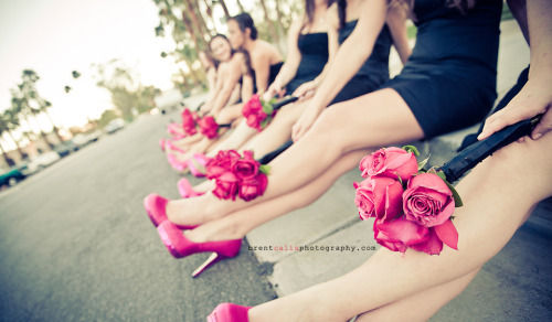 A wickedly fun wedding with a wedding party with the hottest legs in Canada! Copyright Brent Calis Photography Location: Palm Springs
