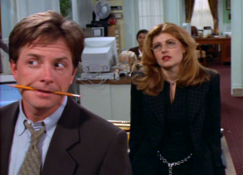 "Michael J. Fox, Connie Britton; Spin City, ""Pilot"" S01E01 [1996]"