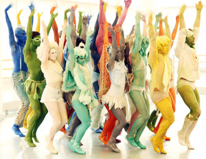 Love it! I've like a fuzzy people rainbow! #werk Armitage gone Dance! cc/ @AbronsArtsCtr