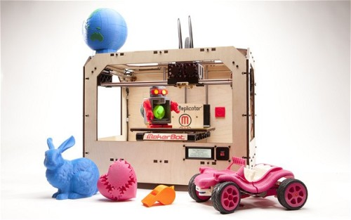 "State of the 3D Printing Union, Per The Telegraph You might not know anyone with a 3D printer yet, but, says Neil Gershenfeld, head of the Center for Bits and Atoms at the Massachusetts Institute of Technology, ""digital personal fabrication has been growing exponentially, and the ways these exponentials work is that there's a kind of barrier to perception. You may think nothing's happening and then suddenly there's a revolution."" Brooklyn-based MakerBot has sold around 6,000 machines, to tech-savvy early adopters like the aforementioned eggcup maker, Brendan Dawes. But we don't know how many 3D printers there are out there – some, like the RepRap, can make their own parts and reproduce themselves. Bowyer designed them to be ""evolutionarily stable"": RepRaps offer people goods so that people will build them, just as flowers offer bees nectar so that they'll carry their pollen. Another problem with the perception of desktop 3D printers is that the things people are making at home right now don't look that exciting. Take the Thingiverse, a website where people upload photographs and design files of things they've designed and made themselves. There are plastic kittens. Plastic door stops. Plastic plant pots. Plastic toy planes. Plastic widgets and encoder wheels and screw isolators and servo wheels, individual parts to improve your printer but not much else. But just when your inner cynic starts to kick in, because homemade plastic tchotchkes don't look much more appealing than ones made in Taiwan, someone will tell you a cautionary tale. Gershenfeld invokes the name of Ken Olsen. The head of a company called the Digital Equipment Corporation (DEC), in 1977 Olsen made a famous pronouncement: ""There is no reason for any individual to have a computer in his home."" As Gershenfeld says today, ""Now DEC is bankrupt, and you have a computer at home."" Underestimating the potential for new technologies to adapt, evolve and thrive can make you look stupid. via Make your own: the 3D printing revolution - Telegraph, joshbyard, BigThink.com"